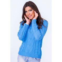 413b864220ba Dámsky pletený svetrík tmavo modrej farby - fashionday.eu