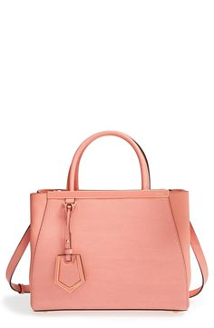 This peach Fendi leather shopper is on the wish list.