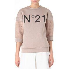 NO. 21 Logo-print sweatshirt       http://www.fashion-mommy.com/2013/11/07/christmas-gift-ideas-from-selfridges-sweater-shop/