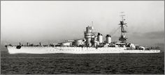 Vintage photographs of battleships, battlecruisers and cruisers.: Italian battleship Giulio Cesare after reconstruct...