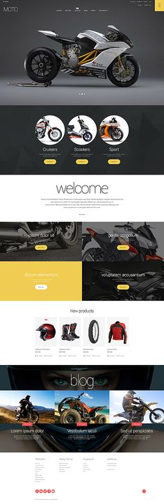 Moto Shop Online #Magento #template. #themes #business #responsive #webshop #Magentothemes