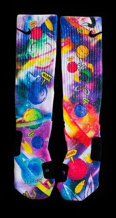Custom Nike Elite or Notion Socks Space Jam Nike Elites, Nike Elite Socks, Nike Socks, Crazy Socks, Cool Socks, Awesome Socks, Basketball Socks, Basketball Games, Soccer