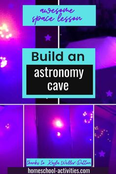 Build an astronomy cave with star constellations Space Activities For Kids, Learning Activities, Science Experiments Kids, Science For Kids, Cool Websites, Solar System, Astronomy, Used Cardboard Boxes, Free Planet