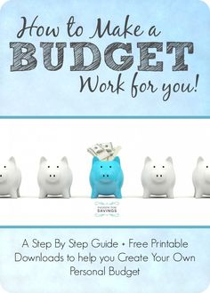Wow! This site has everything you need to make your own personal budget, including all the free budget worksheets and step by step guides to creating a budget even if your income changes every month! Worth the time to read through all these posts.