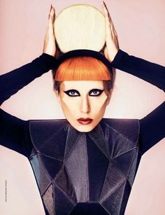 Lady Gaga  Makeup by Billy B  Photo by Mariano Vivanco for Madame FIGARO 2011