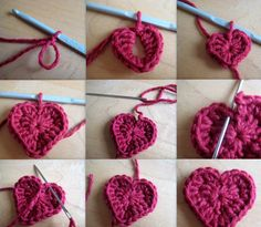 quick and easy crochet heart Tutorial  ༺✿Teresa Restegui http://www.pinterest.com/teretegui/✿༻