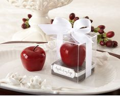 Apple of My Eye Mini Apple Candle Favors- Perfect for a Snow White Wedding Candle Wedding Favors, Candle Favors, Unique Wedding Favors, Party Favours, Wedding Ideas, Party Gifts, Wedding Gifts, Snow White Poison Apple, Snow White Wedding
