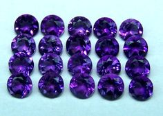 Masterpiece Natural African Amethyst Deep Purple 3 MM Cut Round Loose Gem AAA