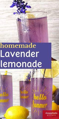 Healthy lemonade recipe - Lavender lemonade Refreshing Drinks, Summer Drinks, Fun Drinks, Healthy Drinks, Beverages, Summer Drink Recipes, Triple Sec, Amazeballs Recipe, Smoothie Recipes