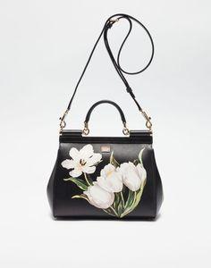 206a492b84b MEDIUM SICILY BAG IN PRINTED DAUPHINE LEATHER - Borse a mano -  Dolce Gabbana - Winter 2016