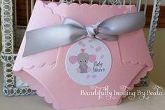 Elefante bebé pañal invitación para bebé por BeautifullyInviting