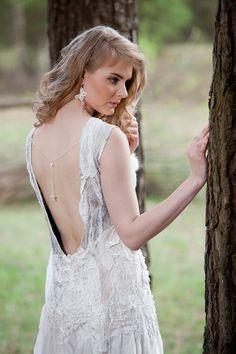 Unique Wedding dress Nuno Felt Dress Original white von woolDesign, $300.00