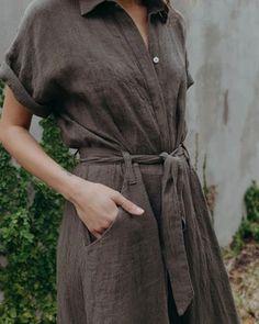 SAVANNAH JUMPER - BASIL – esby apparel Perfect Live, Summer Suits, Long Jumpsuits, Summer Sale, Spring Summer, Striped Linen, Savannah Chat, Jumper