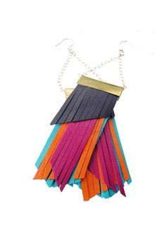 Lynda Fletcher Dashiki Hue Earrings (fringed) - Lyst