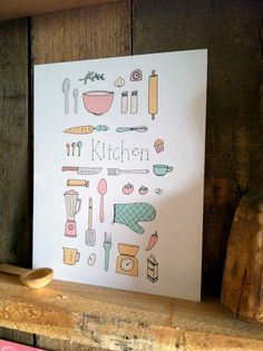 SALE Kitchen  8x10 Art Print by ellolovey on Etsy, $14.00