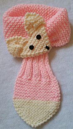 Bufanda de niño del bebé ajustable Fox banda por QuiltNCrochet