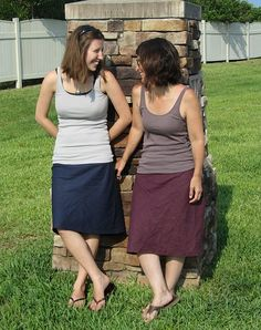 "bias skirt - linen and jersey. need 2 yards of 56"" linen and   ½ yard jersey knit fabric (50 % stretch)."