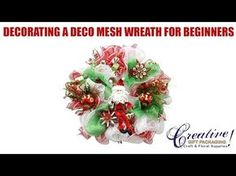 Part 1 Deco Mesh Tutorial For Beginners - Beginner How to Make a Deco Mesh Wreath - YouTube