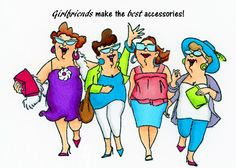 """Greeting Card """"Girlfriends make the best accessories!"""" by Nielsenhomestore on Etsy"""