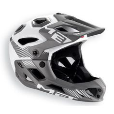 Buy MET Parachute HES Full Face Helmet from Price Match, Home delivery + Click & Collect from stores nationwide. Xc Mountain Bike, Mountain Bike Helmets, Cycling Helmet, Bicycle Helmet, Bicycle Safety, Full Face Helmets, Motorcycle Accessories, Football Helmets, Evans