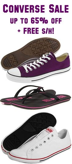 Converse Sale: up to 65% off + FREE Shipping!!  #shoes
