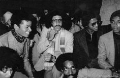 """Michael Jackson and Lionel Ritchie, at Michael Jackson's 21st Birthday Party at Studio 54. August, 29, 1979. Germany 2014: Exhibition """"Excess In Black And White"""", photos by Tod Papageorge at the Gallery Thomas Zander, Cologne"""