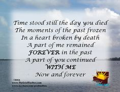 Time stood still A Poem | The Grief Toolbox