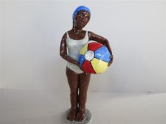 Bather with beachball