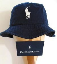 1561beb95 polo fishing hats | polo ralph lauren nwt s m blue bucket hat cap ...