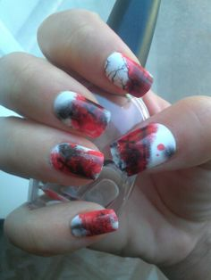 #impress Nail Designs This is cute! Wonder how it was done...airbrush or nail polish?