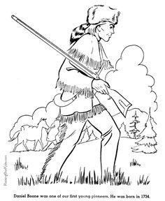 Free Printable Daniel Boone Coloring Pages For Kid