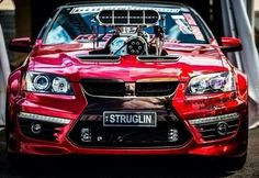 ◆ Visit MACHINE Shop Café... ◆ ~ Aussie Custom Cars & Bikes ~ (Big Blown HSV Holden 'Struglin')