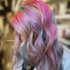 Missing the Easter bunny 🐰 right about now, but soon I will paint to my pastel hearts desire 😘 Treated with every… Bright Hair, Rainbow Hair, Costume Makeup, Ombre Hair, Beauty Hacks, Beauty Tips, Hair Goals, Hair Coloring, Dyed Hair