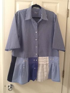 Great way to upcycle my husbands old work shirts!