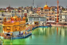 "Harmandir Sahib or ""Golden Temple"" in Amritsar, Punjab"