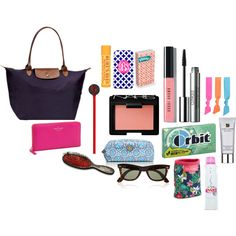 """What's in my Longchamp"" on Polyvore"