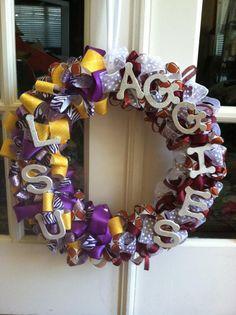 LSU / Texas Aggies wreath for football season