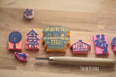 Ishtar Olivera's stamps inspired by Mihoko Seki. Sellos de Ishtar Olivera inspirados en el artista japonés Mihoko Seki.