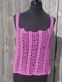 Radiant Orchid tank top festival wear crochet top. by CrochetByMel, $68.99