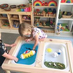 Using our Flisat table from ✋🏻Sensory Table✋🏻 . Using our Flisat table from as a w… ✋🏻Sensory Table✋🏻 . Using our Flisat table from as a water and sensory play table. It's the perfect height for my little… - Kids Playroom Furniture, Modern Playroom, Attic Playroom, Playroom Decor, Playroom Ideas, Playroom Design, Sensory Table, Sensory Play, Playroom Montessori