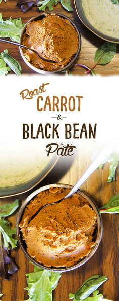 Roast carrot & black bean pate