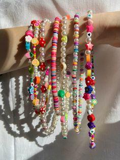 Nail Jewelry, Funky Jewelry, Bead Jewellery, Trendy Jewelry, Summer Jewelry, Cute Jewelry, Jewelery, Jewelry Accessories, Handmade Jewelry
