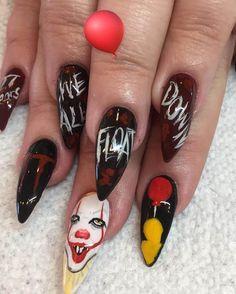 Nail Design for Halloween 2018 Nageldesign für Halloween 2018 Halloween 2018, Disney Halloween Nails, Holloween Nails, Halloween Nail Designs, Diy Nails, Cute Nails, Pretty Nails, Shellac Nail Designs, Diy Nail Designs