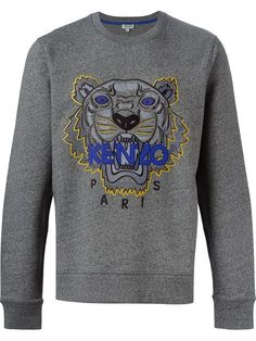 Shop Kenzo 'Tiger' sweatshirt in Smets from the world's best independent boutiques at farfetch.com. Shop 300 boutiques at one address.