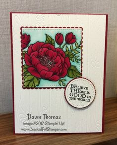2017 OnStage Salt Lake City Swap Card featuring Birthday Blooms stamp set and Stampin' Blends. For details and instruction, click through to my blog. #crackedpotstamper #stampinblends #birthdayblooms #stampinup