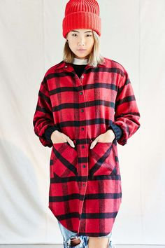 Urban Renewal Recycled Buffalo Plaid Coat - Urban Outfitters