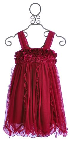 Mimi and Maggie Girls Holiday Dress in Burgundy