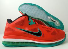 50c530f1178a Nike Lebron 9 Low Liverpool Christmas Action Red Green Sz 7 5 510811 601