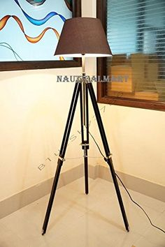 NauticalMart Living Room Lighting Lamp Tripod Lamp Base with Electric Fittings Lamps & Shades