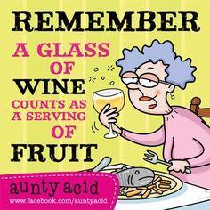 Aunty Acid on alcohol